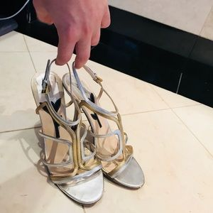 Prada Shoes (Silver/Gold)